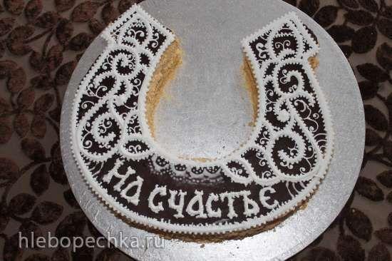 торт подкова фото