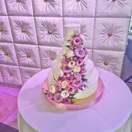 Сахарная флористика торта