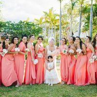 Платье-трансформер EVA в персиковом цвете