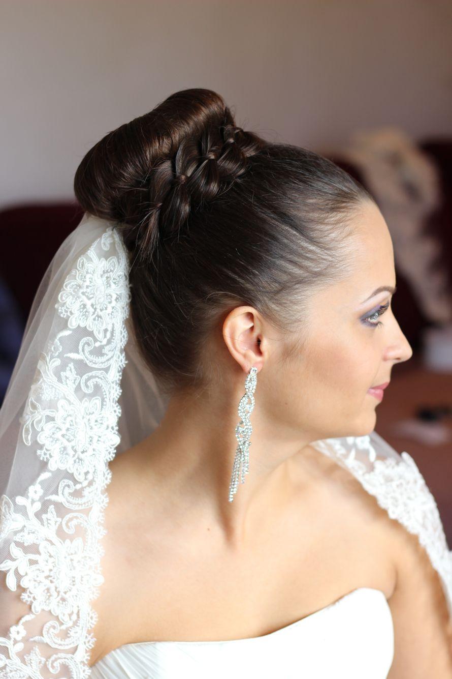 Свадебные прически на волосы по плечи