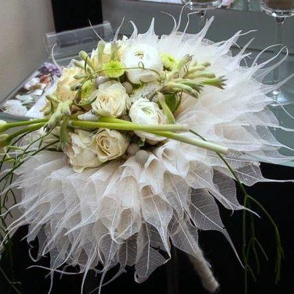 Букет невесты на оригинальном каркасе