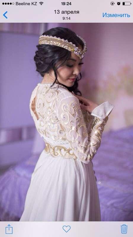 Казахское свадебное платье на кыз узату - фото 9051004 Салон казахских свадебных платьев Золотая пуговица