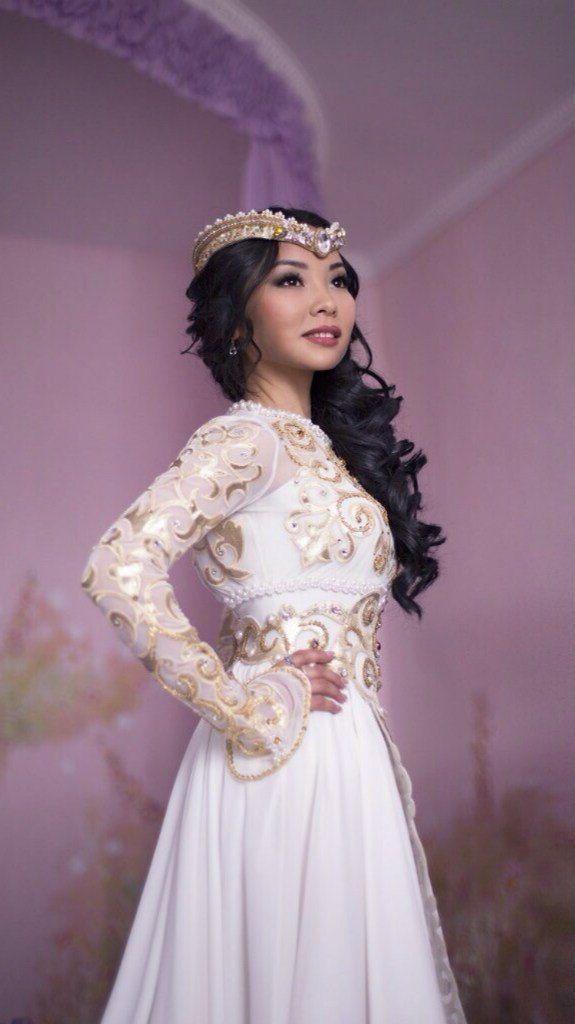 Казахское свадебное платье на кыз узату - фото 9051006 Салон казахских свадебных платьев Золотая пуговица