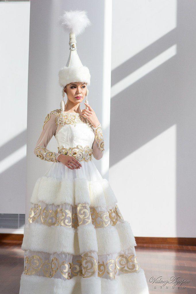 Казахское свадебное платье на кыз узату - фото 9051060 Салон казахских свадебных платьев Золотая пуговица