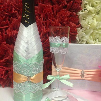 Оформление бокалов и шампанского