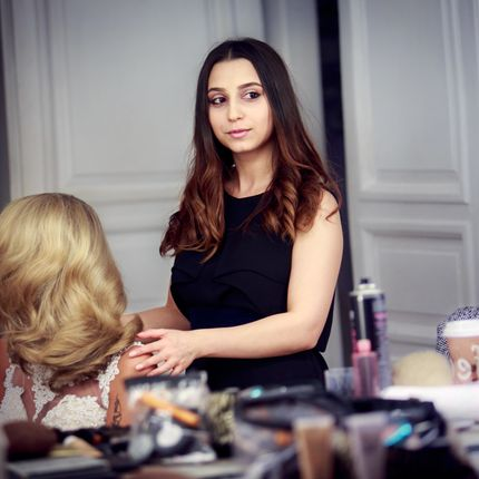 Репетиция макияж и прическа