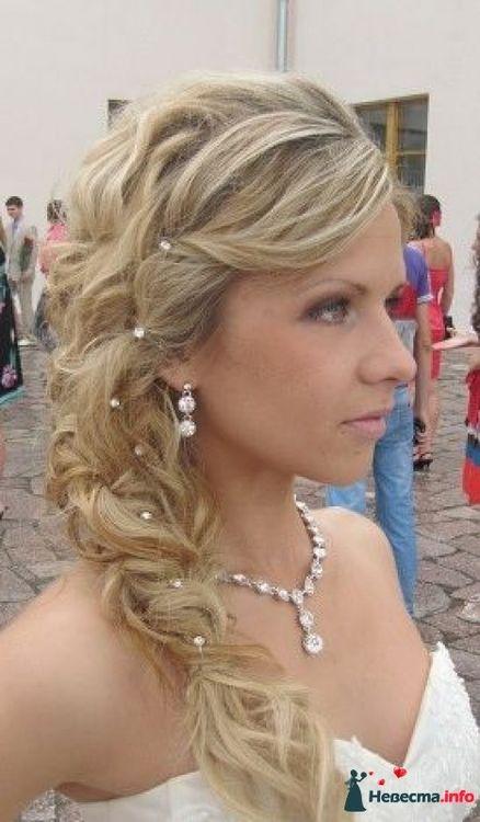 Прически с косами фото свадебные на средние волосы фото