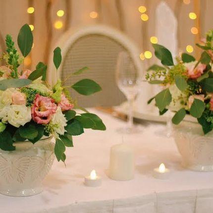 Оформление стола жениха и невесты
