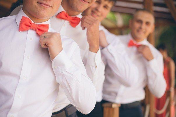 Бабочки на свадьбу для друзей жениха