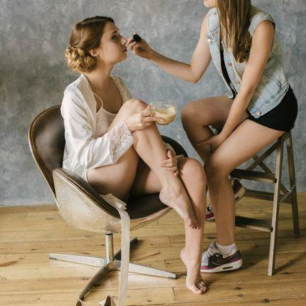 Репетиция свадебного образа, макияж и прическа