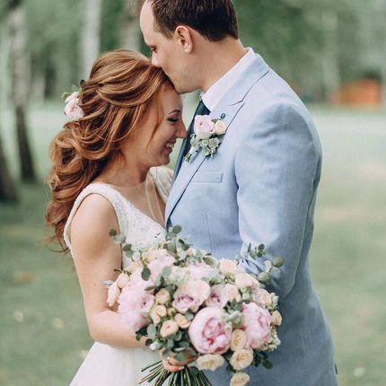 Букет невесты + бутоньерка