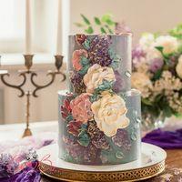 Торт с художественной росписью, 4 кг.