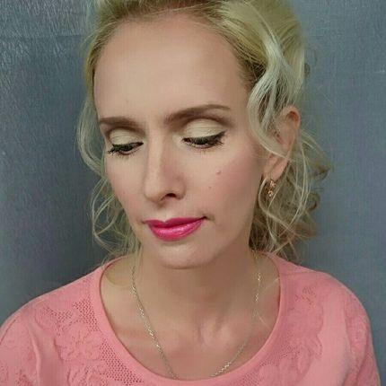 Вечерний образ - макияж и причёска