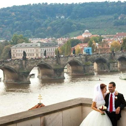 Символическая свадебная церемония в Чехии - во дворце Кинских