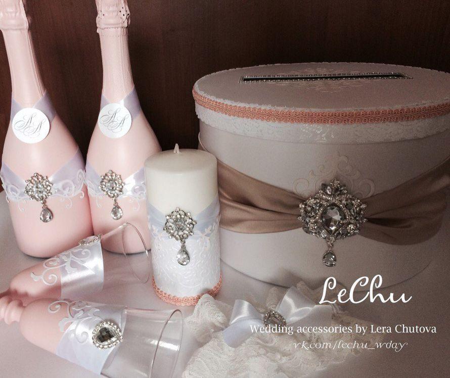 """Свадебный набор в стиле """"Прованс"""" - фото 16111156 Мастерская аксессуаров """"Lechu"""""""