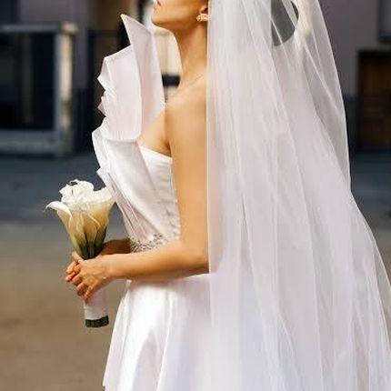 Свадебное платье со стразами Swarovski