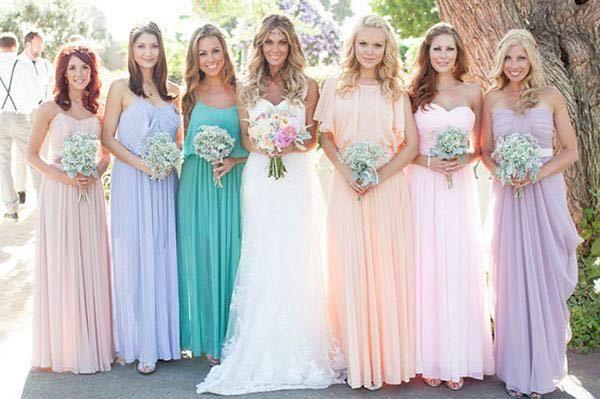 Платья подружки невесты 2017