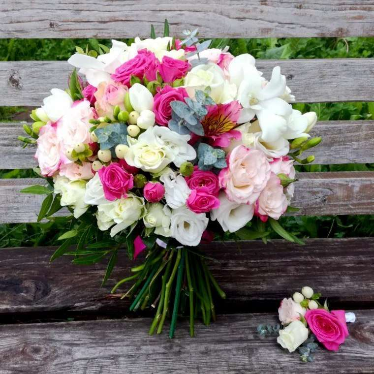"Фото 15597796 в коллекции Свадебная флористика - Цветочный салон ""Незабудка"""