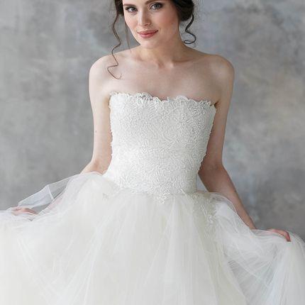 """Свадебное платье """"Фатиновые облака"""""""