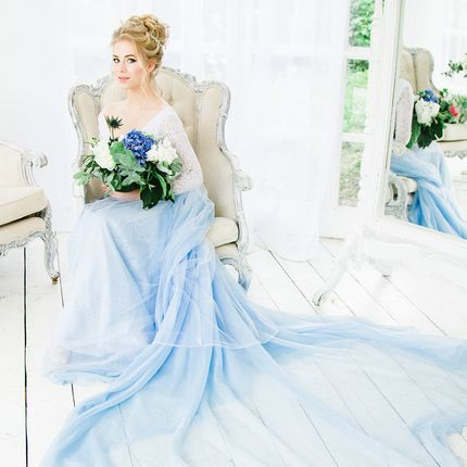 """Свадебное платье """"Голубая нимфа"""""""