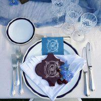 Свадебная монограмма - декорации и сервировка