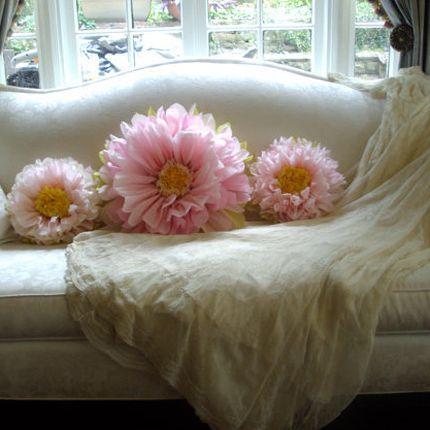 Бумажные цветы тишью