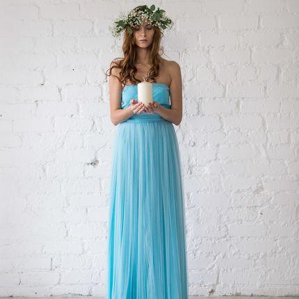 Платье Paris - голубой фатин
