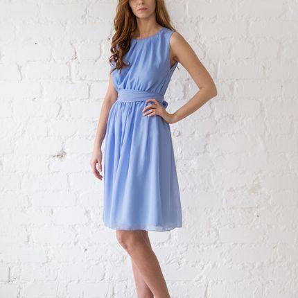 Платье Moscov - васильковый шифон