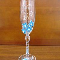 """Бокалы """"Синие цветы"""" 450 руб., стоимость бокалов включена В наличии!"""