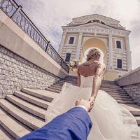 """На Анастасии свадебное платье """"Весна"""" светло-кремового оттенка"""