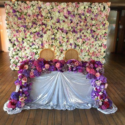 """Цветочная стена """"Фиолет"""" в аренду"""