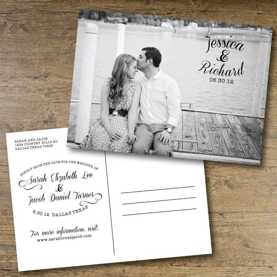Сделать надпись, пригласительные в виде почтовой открытки с маркой