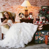 оформление  свадебной фотосесии в студии в  английской стилистике Union