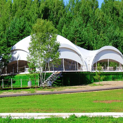 Аренда шатра на берегу озера, цена за 1 сутки