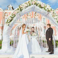 выездная регистрация,Петровский Путевой Дворец,свадьба,оформление,флористическое оформление,оформление регистрации, арка