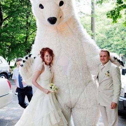 Ростовая кукла Белый медведь на свадьбу