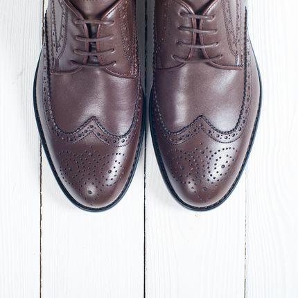 Туфли Дерби коричневого цвета