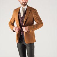 Пиджак горчичного цвета