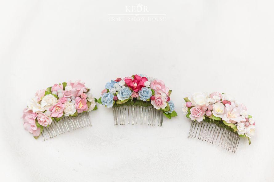 Фото 10570024 в коллекции цветочный гребень невесты - Авторская мастерская аксессуаров Kedr