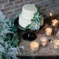 Свадебный торт с суккулентами