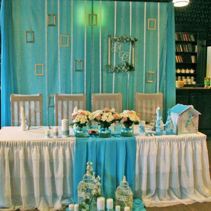 Декор свадьбы тканями и цветами