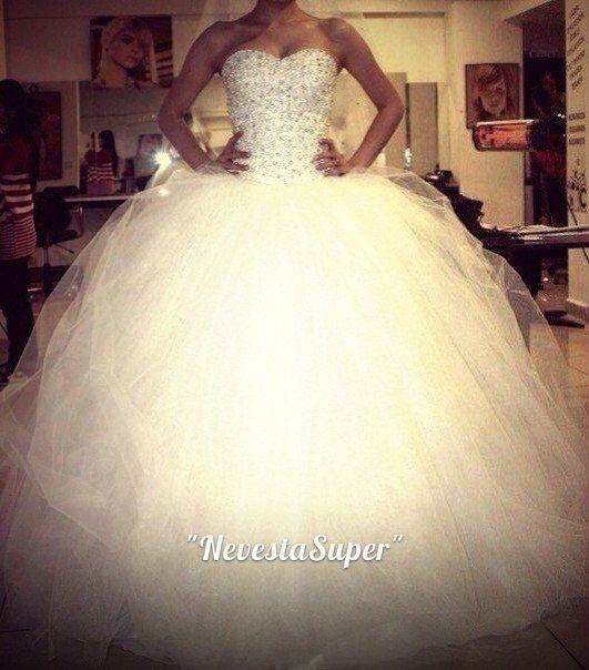 Фото очень пышные свадебных платьев