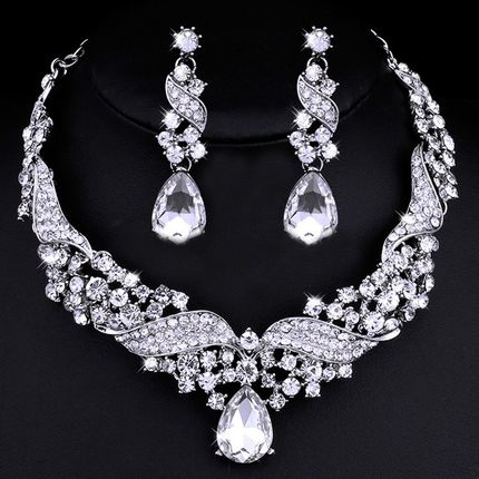 Комплект - ожерелье и серьги, kt01100