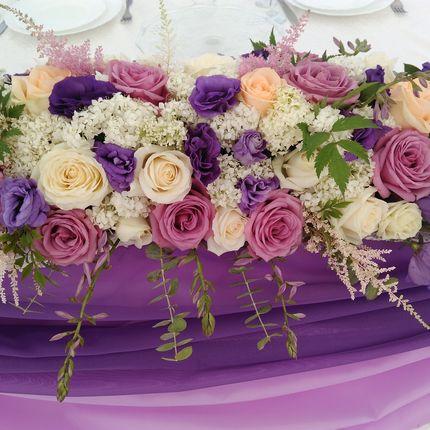 Цветочные композиции на стол молодых, цена за 1 шт