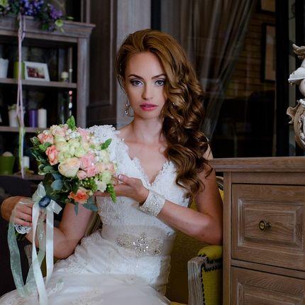 Свадебный макияж + прическа