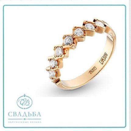 Обручальное кольцо с красного золота