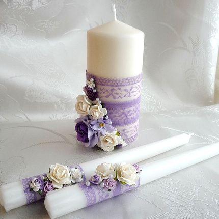 Оформление свадебных свечей