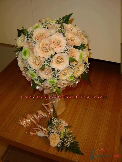 """Фото 33907 в коллекции Букет невесты и бутоньерка. - Студия флористики """"Вистерия"""""""