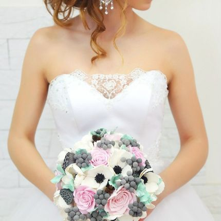 Букет невесты из полимерной глины