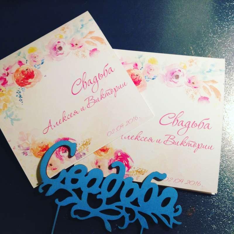 """Фото 11882104 в коллекции Примеры индивидуально разработанных приглашений - Студия полиграфии """"Cute wedding"""""""